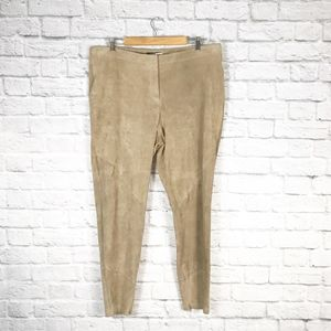 Lafayette 148 Leather Suede Skinny Brooklyn Pant